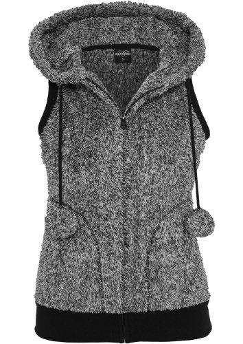Urban Classics - Chaleco - para mujer Grey - Black / white