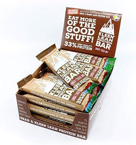 Klean Lean Protein Whey Riegel ohne Zucker 50 g – Geschmacksrichtung Schokolade & Tigernuß