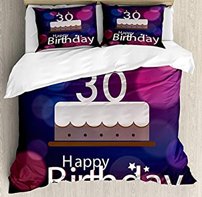 Hedda Clare Luxury Quilt coverBirthday Cake Candles Duvet Cover Set1 Duvet Cover + 2 Pillow Shams