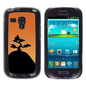 A-type Arte & diseño plástico duro Fundas Cover Cubre Hard Case Cover para Samsung Galaxy S3 MINI 8190 (Montaña Bonsai)