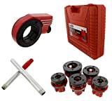 ABN Ratcheting Pipe Threader Cutter 9-Piece Kit - with 1/4in - 1 Inch Pipe Thread Dies for Repairing Vehicle Threading