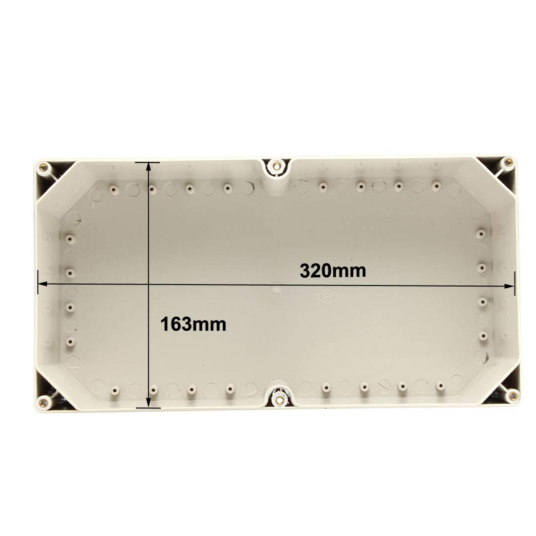 70 sourcing map 2 Stk 53mm Elektronische ABS DIY Kunststoff Grau DE de Anschlussdose Geh/äuse 112