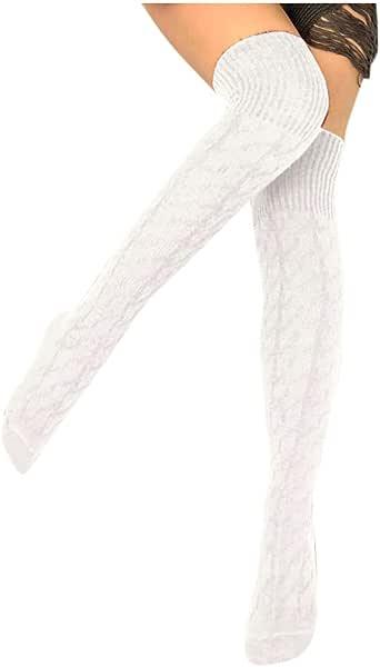 Sylar Calcetines Termicos Mujer Invierno Calcetines Mujer Altos ...