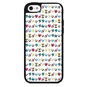 Cute Pink Girly Emoji Baclground Hard Snap on Phone Case (iphone 4s)