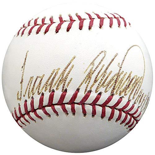(Frank Robinson Autographed Signed Memorabilia Official MLB Baseball Baltimore Orioles, Cincinnati Reds Hof 82 Washington Nationals Inaugural Season Logo SGC #Ab04691 - Certified Authentic)