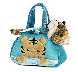 Aurora World Fancy Pals Pet Carrier, Peek-a-boo Bengal Tiger