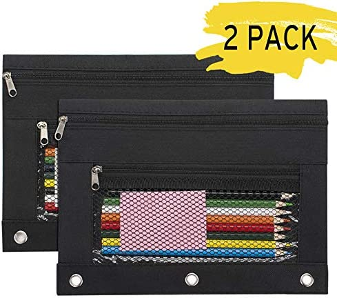 Sooez Binder Pencil Pouches Zippered product image