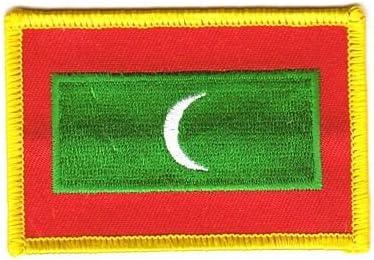Flaggen Aufn/äher Patch Malediven Fahne Flagge NEU