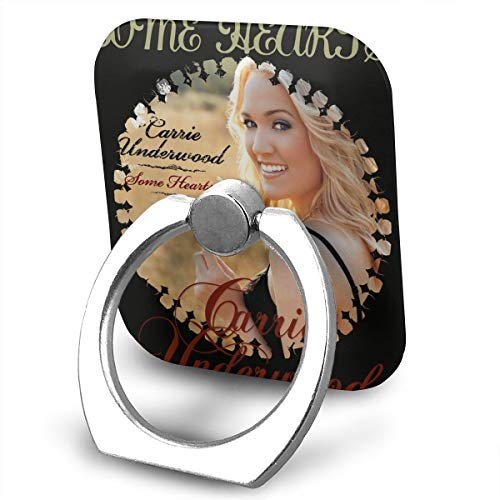 EdithL Carrie Underwood Some Hearts Cellstand Cell Phone Finger Ring Stand, Car Mount 360 Degree Rotation Universal Phone Ring Holder Kickstand for iPhone/iPad/Samsung