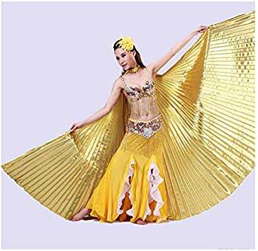 Egyptian Professional Belly Dance Isis Wings Unique Silver /& gold and 2 stick