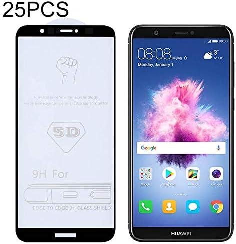 P Smart GzPuluz Glass Protector Film 25 PCS 9H 5D Full Glue Full Screen Tempered Glass Film for Huawei Enjoy 7S
