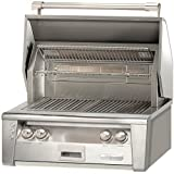 """Alfresco ALXE-30-NG 30"""" Standard Built-In Grill Natural Gas with 77000 BTUH and Integrated Rotisserie System with Built-In Motor in Stainless"""