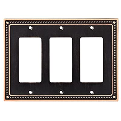 Franklin Brass Classic Beaded Triple Decorator Wall Plate/Switch Plate/Cover