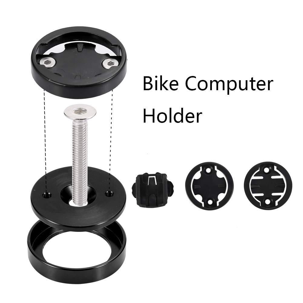 Bicycle Stem Top Cap Computer Stopwatch Mount Holder for Garmin//Bryton//Cateye