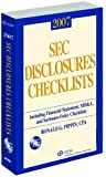SEC Disclosures Checklists, Ronald Pippin, 0808090879