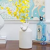 apartment living room decorating ideas CLG-FLY Nordic minimalist modern home decorating ideas living room vase white ceramic model floral floating window ornaments short flower,Short flower