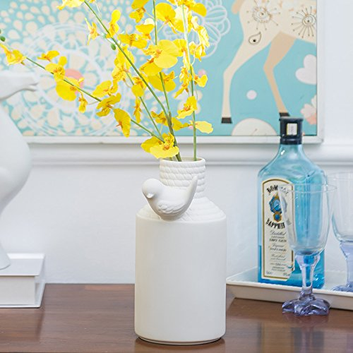 CLG-FLY Nordic minimalist modern home decorating ideas living room vase white ceramic model floral floating window ornaments short flower,Short flower