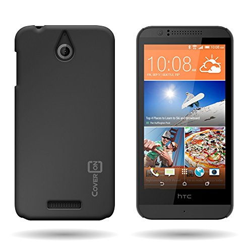 By CoverON Ultra Slim Matte Soft Touch Hard Back 1 Pc Case for HTC Desire 510 (2014) - Black ()