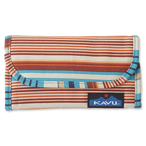 KAVU Big Spender Tri-fold Wallet Womens Clutch Travel Organizer - Cascade Stripe