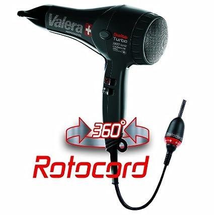 Valera Professional Swiss Turbo 7200 Light Ionic 1800 W Tourmaline Rotocord secador de pelo de plástico
