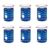 WPI CG-0018 Heavy Duty Borosilicate Glass Griffin Beaker with Spout, 600mL Capacity (Pack of 6)