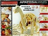 Robotime 3D Wooden Robotic Puzzle R/C Apatosaurus, Large