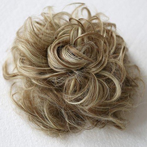 PRETTYSHOP Postizo Coletero Peinado alto, VOLUMINOSO, rizado, Mono descuidado mezcla rubia marron # 6H613 G32E