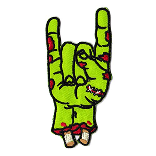 (Zombie Patch Rock Hand Patch Cool Iron On Patches Funny Patches For Jackets)