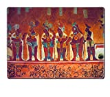 Liili Natural Rubber Placemat IMAGE ID: 9845534 Many people on the fresco in museum antropology in Mexico