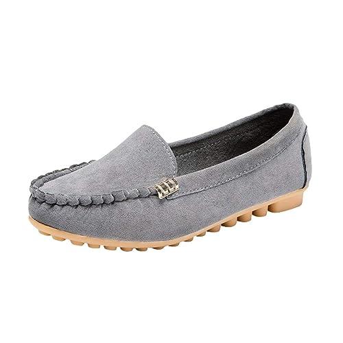 Damas de Mujer Zapatos Planos de Ocio Deslízate con Comodidad Trabajo Informal Mocasines Planos Mocasín Color Caramelo Zapatillas de Ballet Zapatos cómodos ...