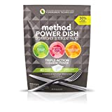 Method Naturally Derived Power Dish Dishwasher Detergent Packs, Lemon Mint, 45 Count