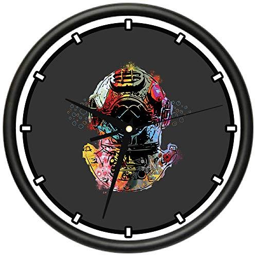 SignMission Dive Deep Design Wall Clock | Precision Quartz Movement | Décor for School Class Office Bedroom Decoration,