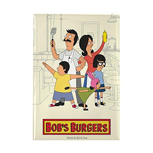 CafePress Bob's Burger Hero Family Rectangle Magnet, 2