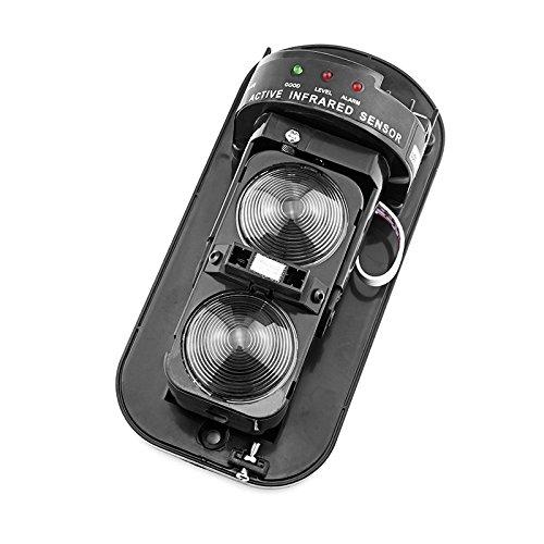 Kerui - Sensores IR para sistema de alarma, detector de presencia, célula doble, haz barrera de infrarrojos exterior 100 M ABT-100 para alarma de casa: ...