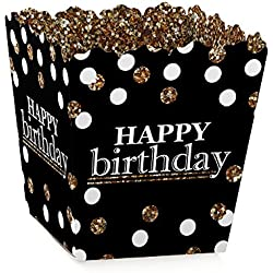 Big Dot of Happiness Adult Happy Birthday - Gold - Party Mini Favor Boxes - Birthday Party Treat Candy Boxes - Set of 12