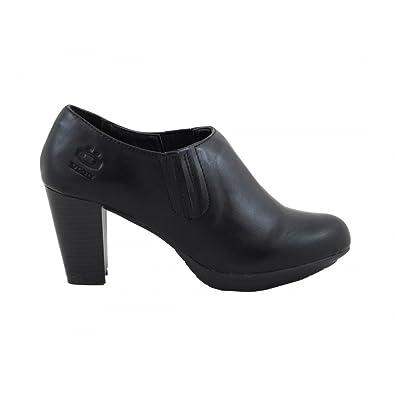 Zapato Abotinado Tacón Medio Marrón - Benavente 9wDuh8UU