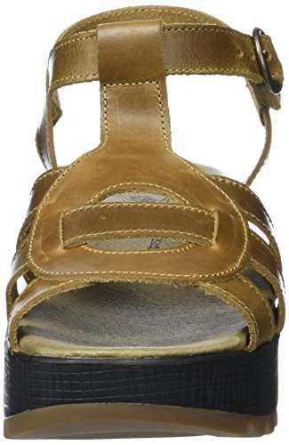 Donna Heels camel 002 London Sandals Marrone Fly Kail898fly H8qIwFgxn4