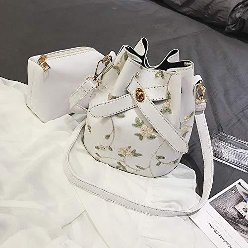 WMQQ Handtasche Damentasche Spitze Bestickte Eimer Tasche Wilde Fee Fee Fee Tasche Schulter geschlungenes Paket B07K8L33FG Umhngetaschen Neues Design ee3bfa