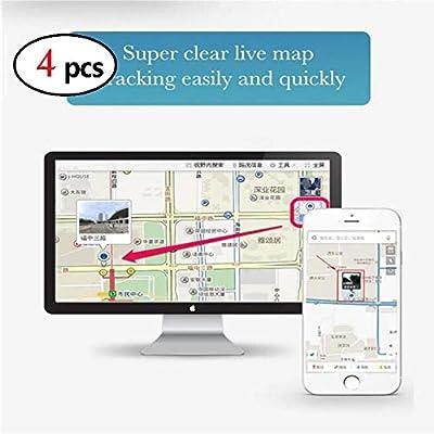 XuBa - Mini rastreador GPS de Seguridad en Tiempo Real, localizador GPS para Coche (4 Unidades)