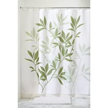 "InterDesign Leaves Fabric Shower Curtain - Stall, 54"" x 78"", Green"