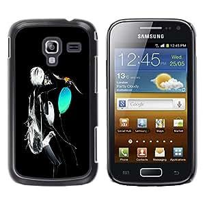 TopCaseStore / la caja del caucho duro de la cubierta de protección de la piel - Neon Abstract - Samsung Galaxy Ace 2 I8160 Ace II X S7560M