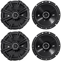 (2) Pairs of Kicker 43DSC6704 DSC670 6.75 2-Way Car Audio Speakers Totaling 480 Watt 4-Ohm With Zero Protrusion Tweeters