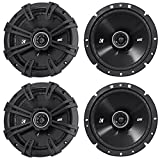 (2) Pairs of Kicker 43DSC6704 DSC670 6.75'' 2-Way Car Audio Speakers Totaling 480 Watt 4-Ohm With Zero Protrusion Tweeters