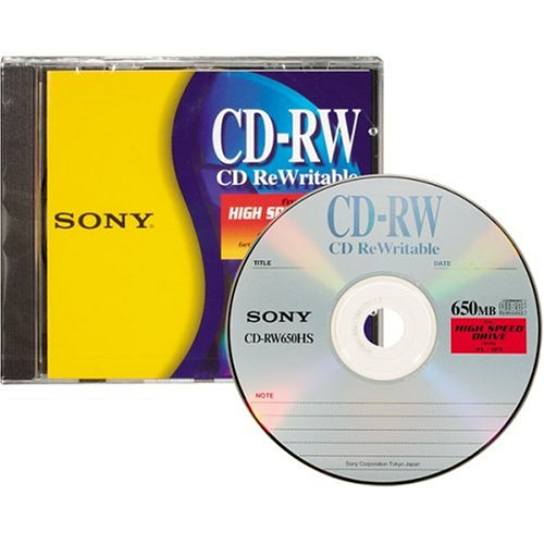 sony cd rw high speed rewritable disc one pack. Black Bedroom Furniture Sets. Home Design Ideas
