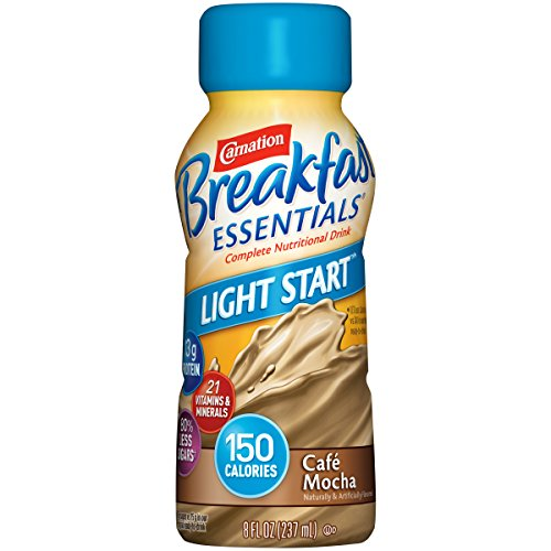 Amazon.com : Carnation Breakfast Essentials Light Start Ready-to-Drink, Café Mocha, 8 fl oz Bottle, 24 Pack : Grocery & Gourmet Food