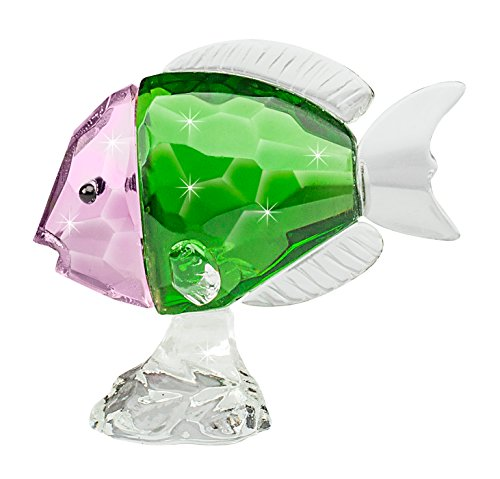 The Paragon Crystal Collectible - Charming Fish Figurine, Glass Trinket Collectible