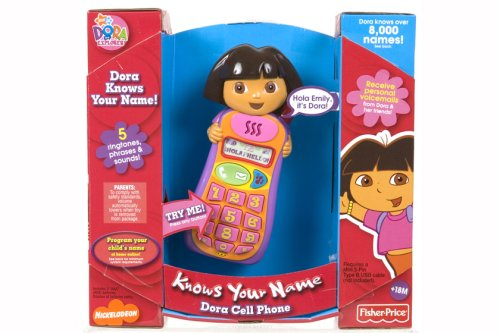 Fisher Price Dora Knows Your Name Cell - Doll Talking Dora