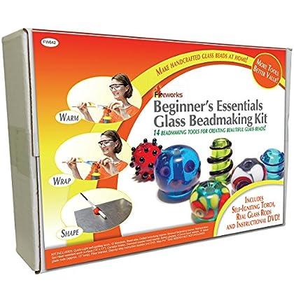 Image of Diamond Tech Crafts Fireworks Beginner's Essentials Glass Bead Making Kit Beads & Bead Assortments
