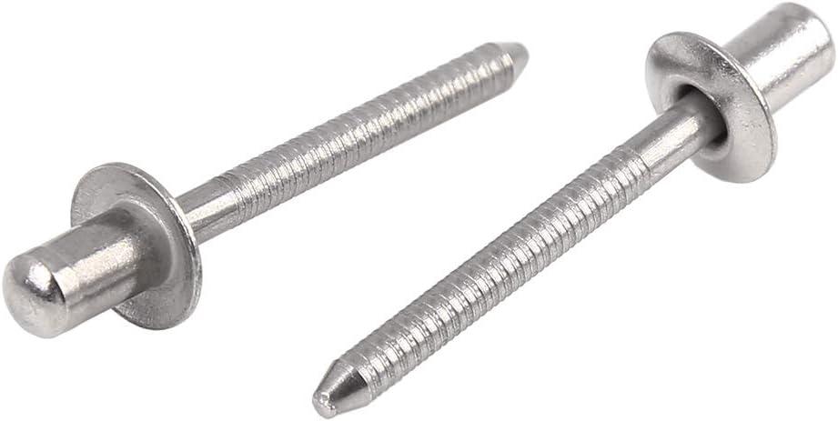 X AUTOHAUX 10 Remaches Ciegos de Acero Inoxidable 304 de 4,8 mm x 8 mm para Coche