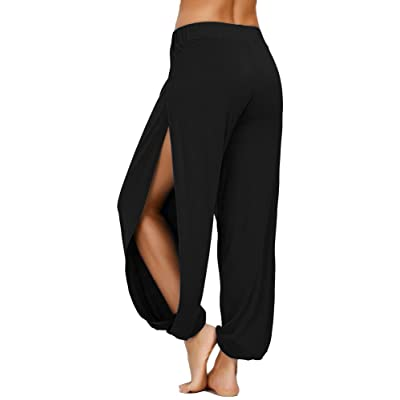 AvaCostume High Slit Harem Pants Women Hippie Harem Pants Trousers at Women's Clothing store
